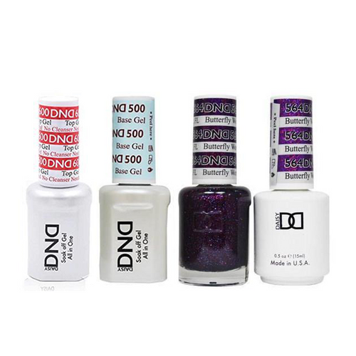 DND - #500#600 Base, Top, Gel & Lacquer Combo - Butterfly World FL - #564