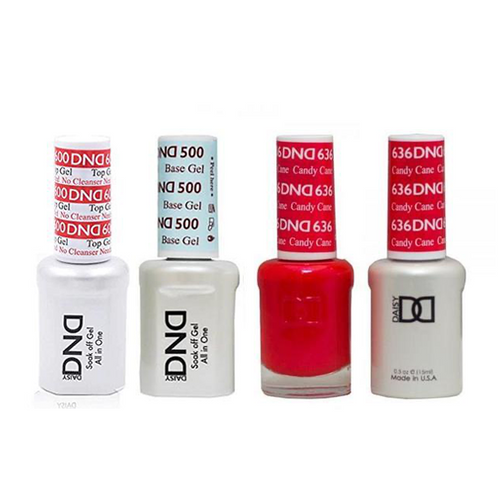 DND - #500#600 Base, Top, Gel & Lacquer Combo - Candy Cane - #636