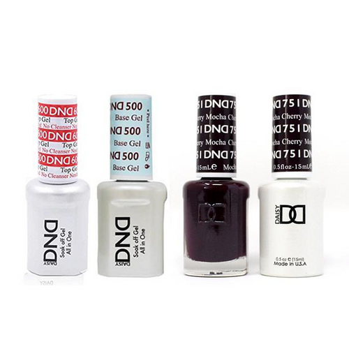 DND - #500#600 Base, Top, Gel & Lacquer Combo - Cherry Mocha - #751