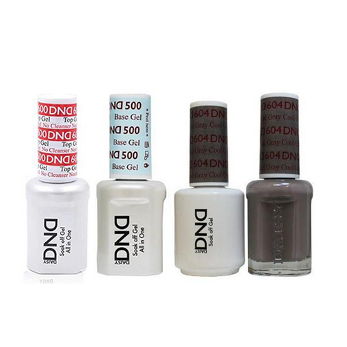 DND - #500#600 Base, Top, Gel & Lacquer Combo - Cool Gray - #604