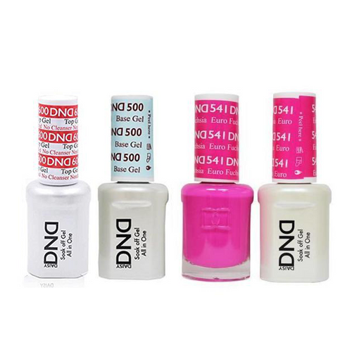 DND - #500#600 Base, Top, Gel & Lacquer Combo - Euro Fuchsia - #541