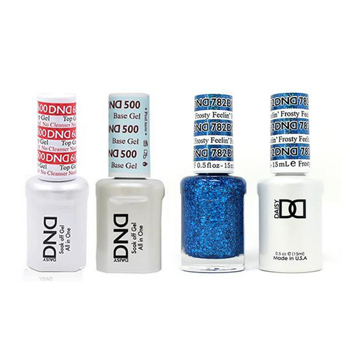 DND - #500#600 Base, Top, Gel & Lacquer Combo - Feelin' Frosty - #782