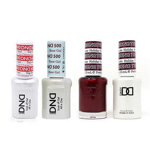DND - #500#600 Base, Top, Gel & Lacquer Combo - Holiday Pomegranate - #773