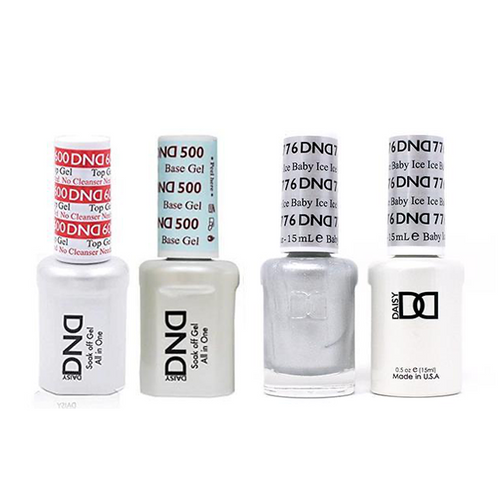 DND - #500#600 Base, Top, Gel & Lacquer Combo - Ice Ice Baby - #776
