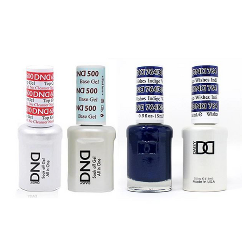 DND - #500#600 Base, Top, Gel & Lacquer Combo - Indigo Wishes - #764
