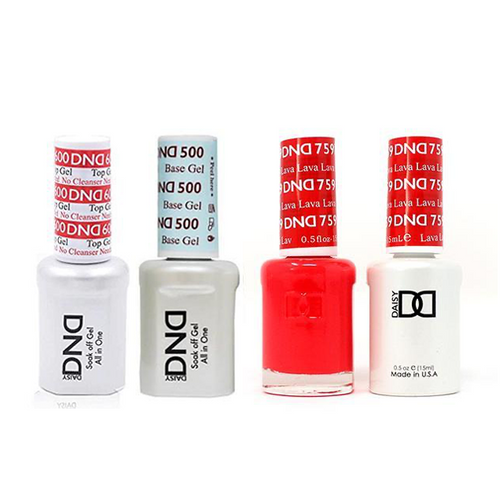 DND - #500#600 Base, Top, Gel & Lacquer Combo - Lava - #759