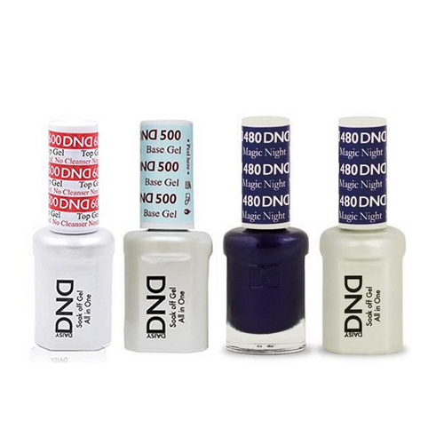 DND - #500#600 Base, Top, Gel & Lacquer Combo - Magic Night - #480