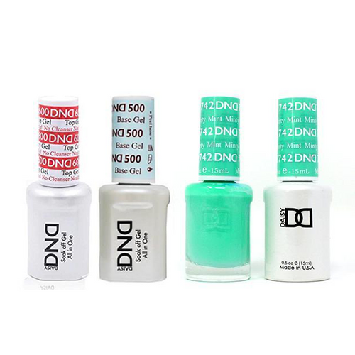 DND - #500#600 Base, Top, Gel & Lacquer Combo - Minty Mint - #742