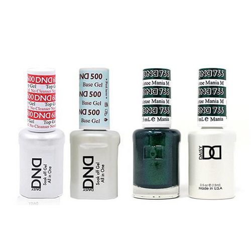 DND - #500#600 Base, Top, Gel & Lacquer Combo - Mistletoe Mania - #766