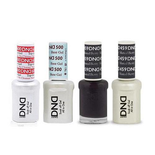 DND - #500#600 Base, Top, Gel & Lacquer Combo - Muted Berry - #459