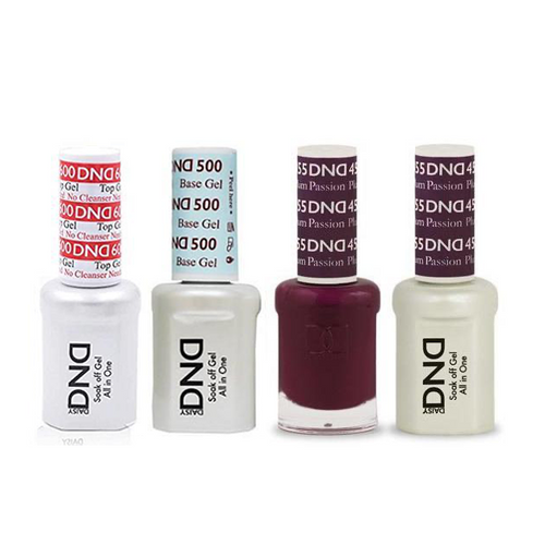 DND - #500#600 Base, Top, Gel & Lacquer Combo - Plum Passion - #455