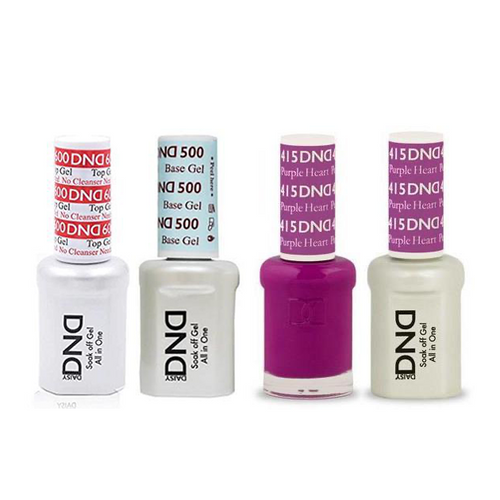 DND - #500#600 Base, Top, Gel & Lacquer Combo - Purple Heart - #415