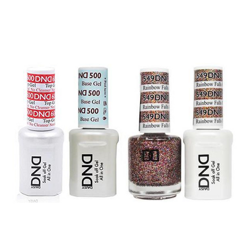 DND - #500#600 Base, Top, Gel & Lacquer Combo - Rainbow Falls HI - #549