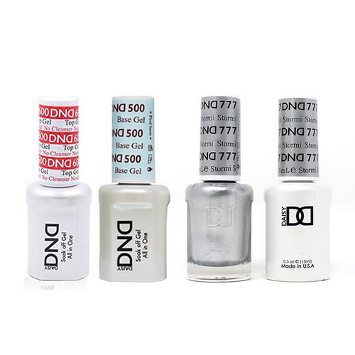 DND - #500#600 Base, Top, Gel & Lacquer Combo - Stormi - #777