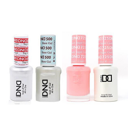 DND - #500#600 Base, Top, Gel & Lacquer Combo - Super Crush - #725