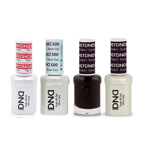 DND - #500#600 Base, Top, Gel & Lacquer Combo - Violets Secret - #457