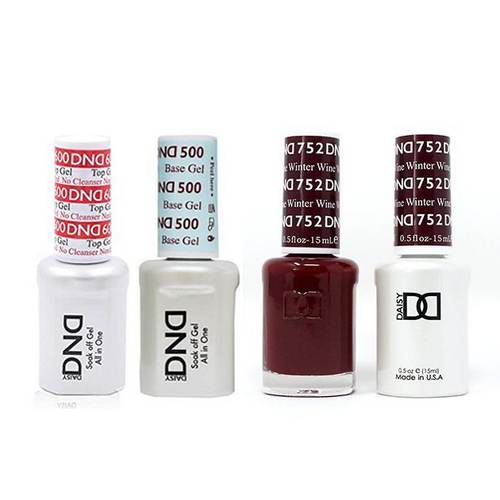 DND - #500#600 Base, Top, Gel & Lacquer Combo - Winter Wine - #752