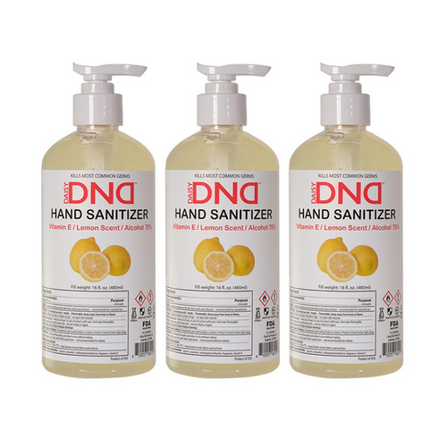 DND - Hand Sanitizer Gel Lemon 16 oz 3-Pack