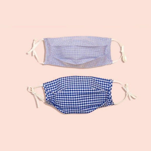 Everly - Non-Medical Grade Mask Navy Gingham