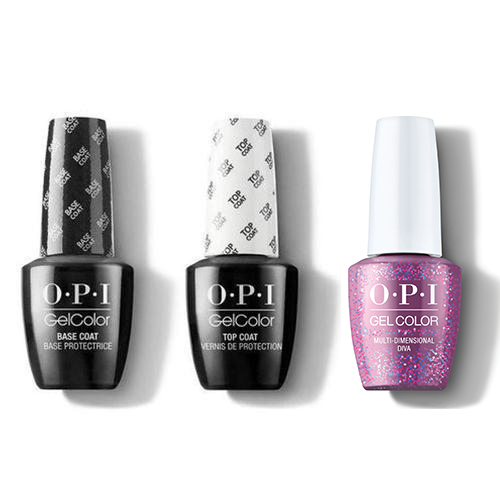 OPI - GelColor Combo - Base, Top & Multi-Dimensional Diva