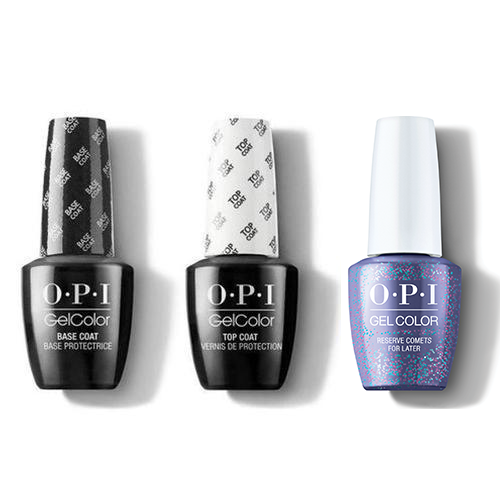 OPI - GelColor Combo - Base, Top & Reserve Comets For Later