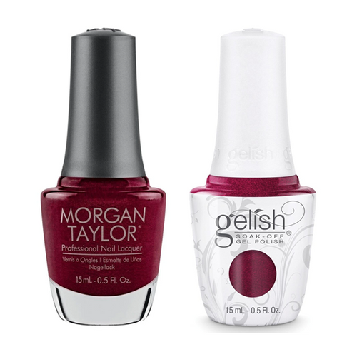 Gelish & Morgan Taylor Combo - A Tale Of Two Nails