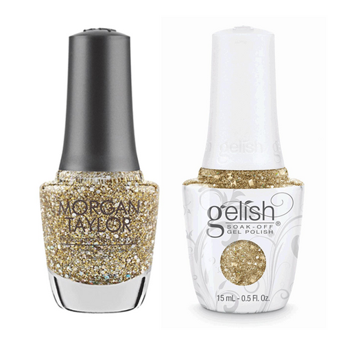 Gelish & Morgan Taylor Combo - All That Glitters Is Gold