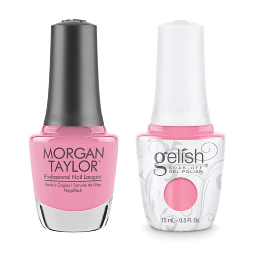 Gelish & Morgan Taylor Combo - Make You Blink Pink
