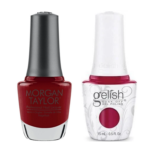 Gelish & Morgan Taylor Combo - Ruby Two-Shoes