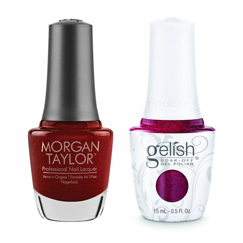 Gelish & Morgan Taylor Combo - What's Your Poinsettia?