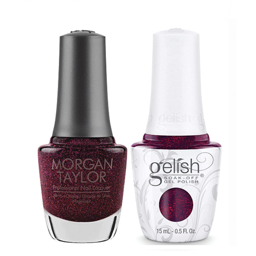 Gelish & Morgan Taylor Combo - Berry Merry Holidays