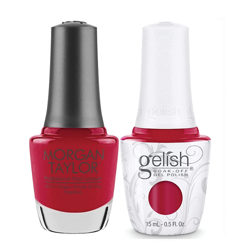 Gelish & Morgan Taylor Combo - Hot Rod Red