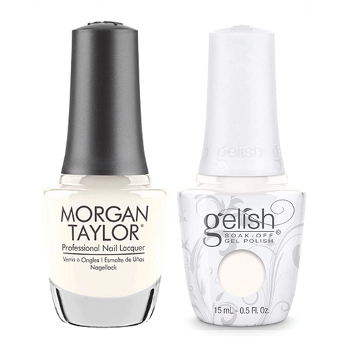 Gelish & Morgan Taylor Combo - Sheek White