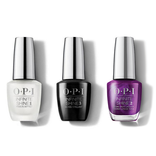 OPI - Infinite Shine Combo - Base, Top & Let's Take An Elfie - #HRM44