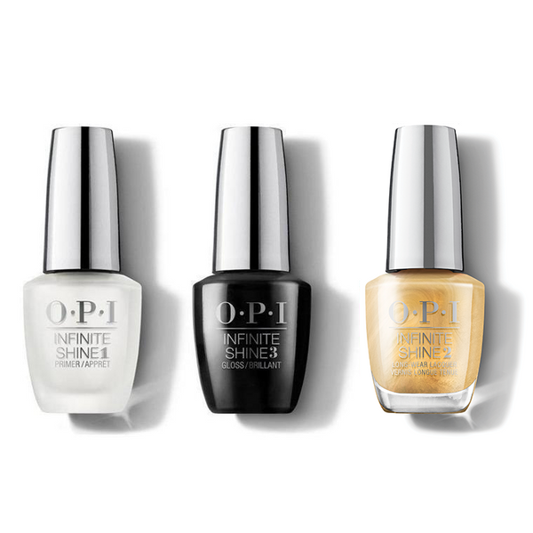 OPI - Infinite Shine Combo - Base, Top & This Gold Sleighs Me - #HRM40