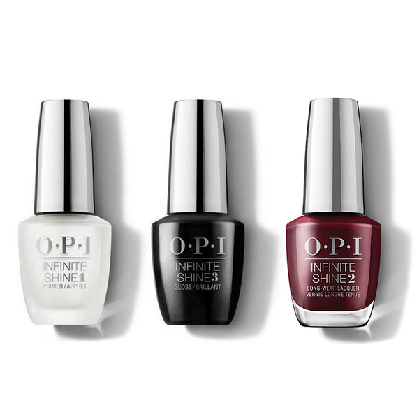 OPI - Infinite Shine Combo - Base, Top & Complimentary Wine - #ISLMI12