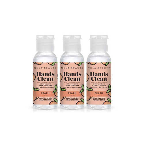 NCLA - Hands Clean Moisturizing Hand Sanitizer Combo - Peach 3-Pack