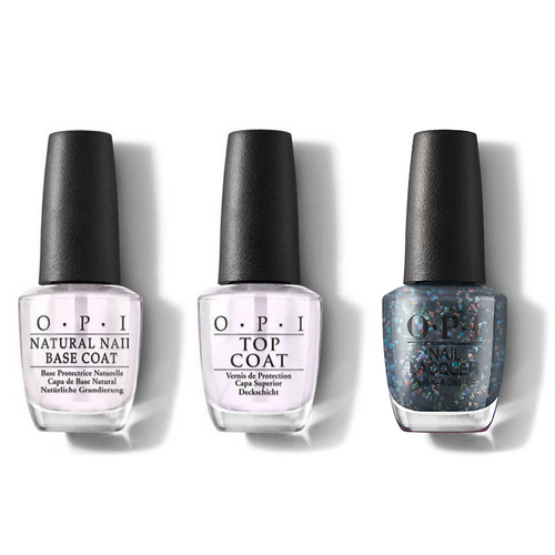 OPI - Nail Lacquer Combo - Base, Top & Puttin' On The Glitz 0.5 oz - #HRM15