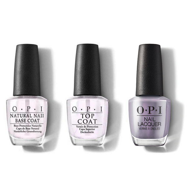 OPI - Nail Lacquer Combo - Base, Top & Addio Bad Nails, Ciao Great Nails 0.5 oz - #NLMI10
