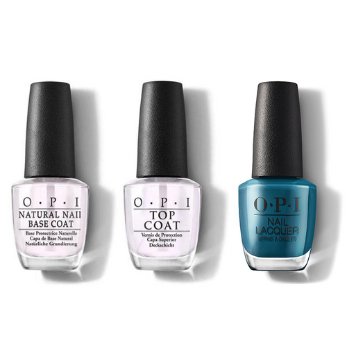 OPI - Nail Lacquer Combo - Base, Top & Drama At La Scala 0.5 oz - #NLMI04