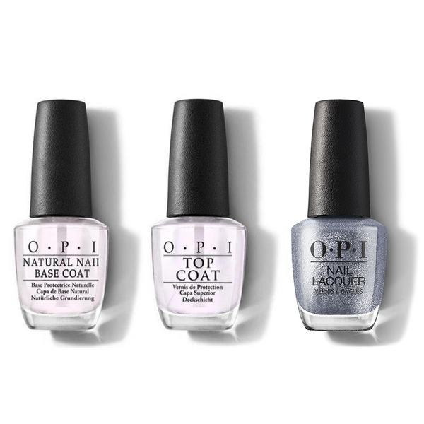 OPI - Nail Lacquer Combo - Base, Top & OPI Nails The Runway 0.5 oz - #NLMI08