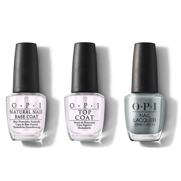 OPI - Nail Lacquer Combo - Base, Top & Suzi Talks With Her Hands 0.5 oz - #NLMI07