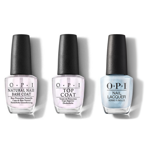 OPI - Nail Lacquer Combo - Base, Top & This Color Hits All The High Notes 0.5 oz - #NLMI05