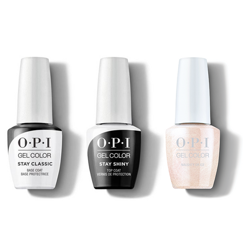OPI - GelColor Combo - Stay Classic Base, Shiny Top & Naughty Or Ice?