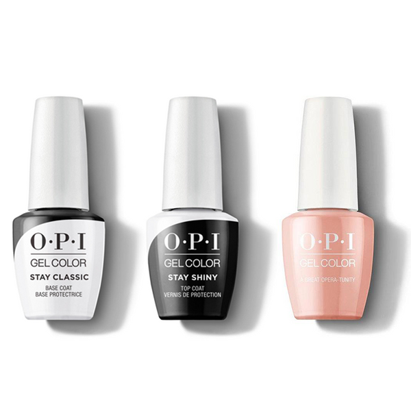 OPI - GelColor Combo - Stay Classic Base, Shiny Top & A Great Opera-tunity