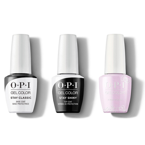 OPI - GelColor Combo - Stay Classic Base, Shiny Top & A Hush Of Blush