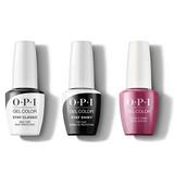 OPI - GelColor Combo - Stay Classic Base, Shiny Top & A Rose at Dawn...Broke by Noon