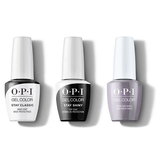 OPI - GelColor Combo - Stay Classic Base, Shiny Top & Addio Bad Nails, Ciao Great Nails