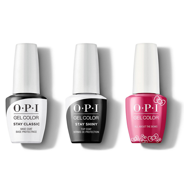 OPI - GelColor Combo - Stay Classic Base, Shiny Top & All About The Bows