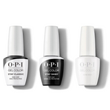 OPI - GelColor Combo - Stay Classic Base, Shiny Top & Alpine Snow